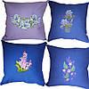 Подушка декоративная  из льняной ткани с вышивкой  на кресло 13, фото 5
