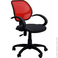 Офисное Кресло AMF Байт/АМФ-5 сиденье Сетка черная/спинка Сетка красная (116969)
