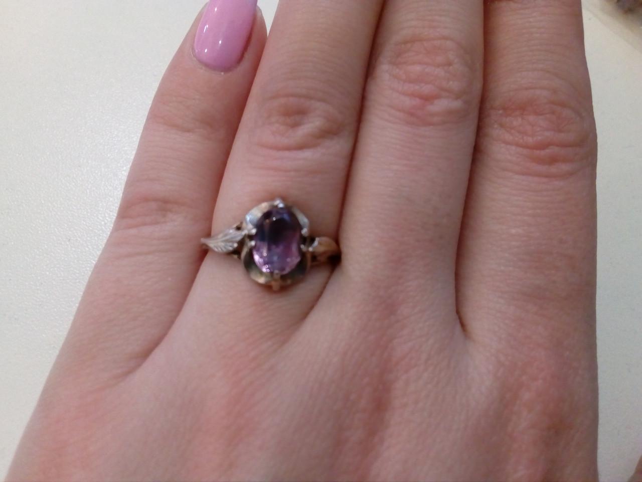 22060690db18 Старинное кольцо с Александритом в серебре.16 размер. Серебряное кольцо. -  Интернет-