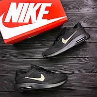 Мужские кроссовки Nike Air Max (черные), ТОП-реплика, фото 1