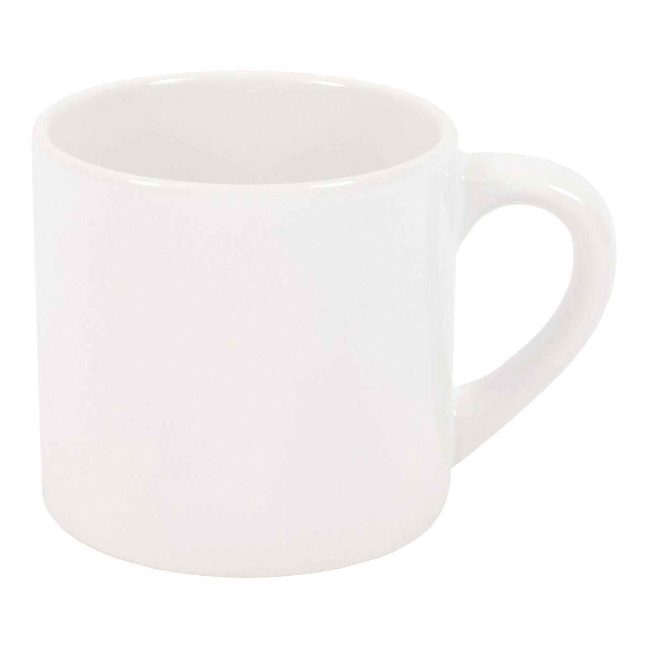 Чашка керамическая для сублимации белая Coffee