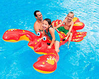 Яркий детский плавательный плотик Крабик Intex