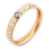 Обручальное кольцо с бриллиантом и эмалью Теруэль 17 000000452