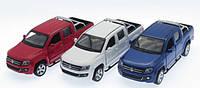 Машина металлическая АВТОПРОМ, Volkswagen Amarok, открываются двери, 67336
