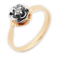 Золотое кольцо с бриллиантом Мальва 17 000011138