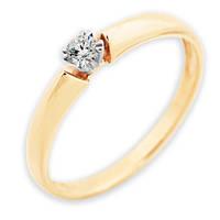 Золотое кольцо с бриллиантом Мой свет 16.5 000011192