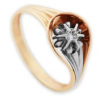 Золотое кольцо с бриллиантом Мирабелла 17 000011196