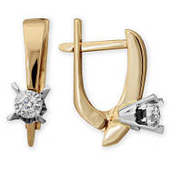 Золотые серьги с бриллиантами Одри 000011353