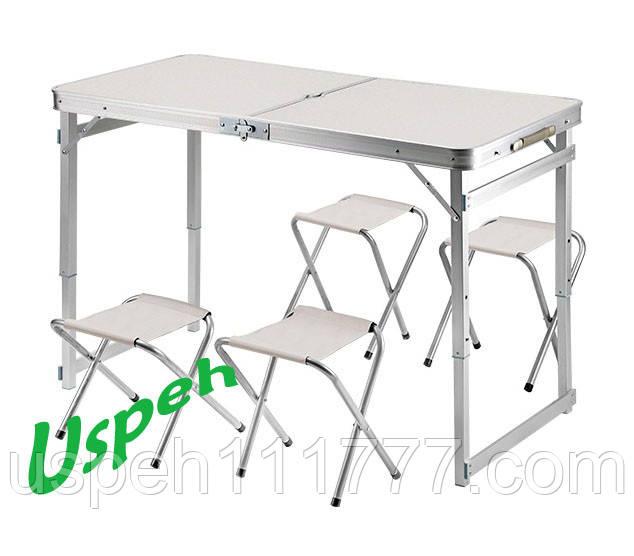 Усиленный раскладной стол и 4 стула для пикника Jampset