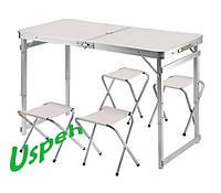 Усиленный раскладной стол и 4 стула для пикника Jampset, фото 1