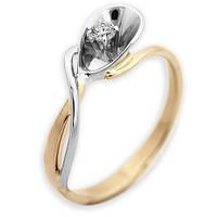 Золотое кольцо с бриллиантом Florence 17.5 000012434