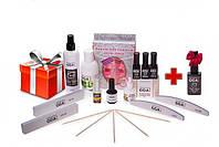 Стартовый набор для покрытия ногтей гель-лаком GGA Professional + матовый топ в подарок (15 позиций)
