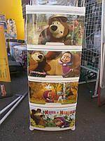 """Комод детский пластиковый Алеана """"Маша и медведь"""", производство Украина, фото 1"""