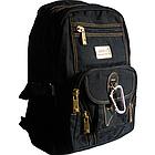 Рюкзак GOLDBE 0107 чорний з карабіном, фото 3