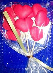 Цукрова прикраса для торта Сердечка на шпажках