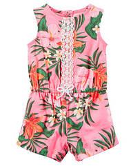 Ромпер Hawaiian Floral Carter's для девочки розовый 3 мес/55-61 см