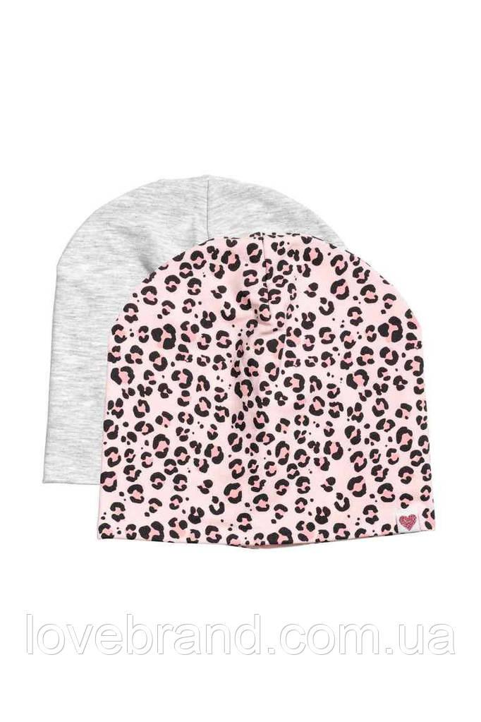 Набор шапочок тигровые H&M для девочки розовый, серый 1,5-4 л./50-51 см