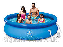 Надувной бассейн Swig pools 3,05 х 0,76 с фильтром 1.2 м3 в час (12 В)