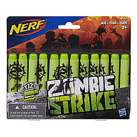 Оригинальные патроны для Бластера Nerf Zombie 12 шт B3861, фото 1
