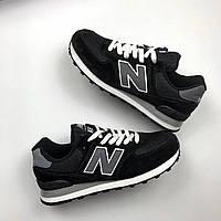 Мужские кроссовки New Balance 574 (черные), ТОП-реплика, фото 1