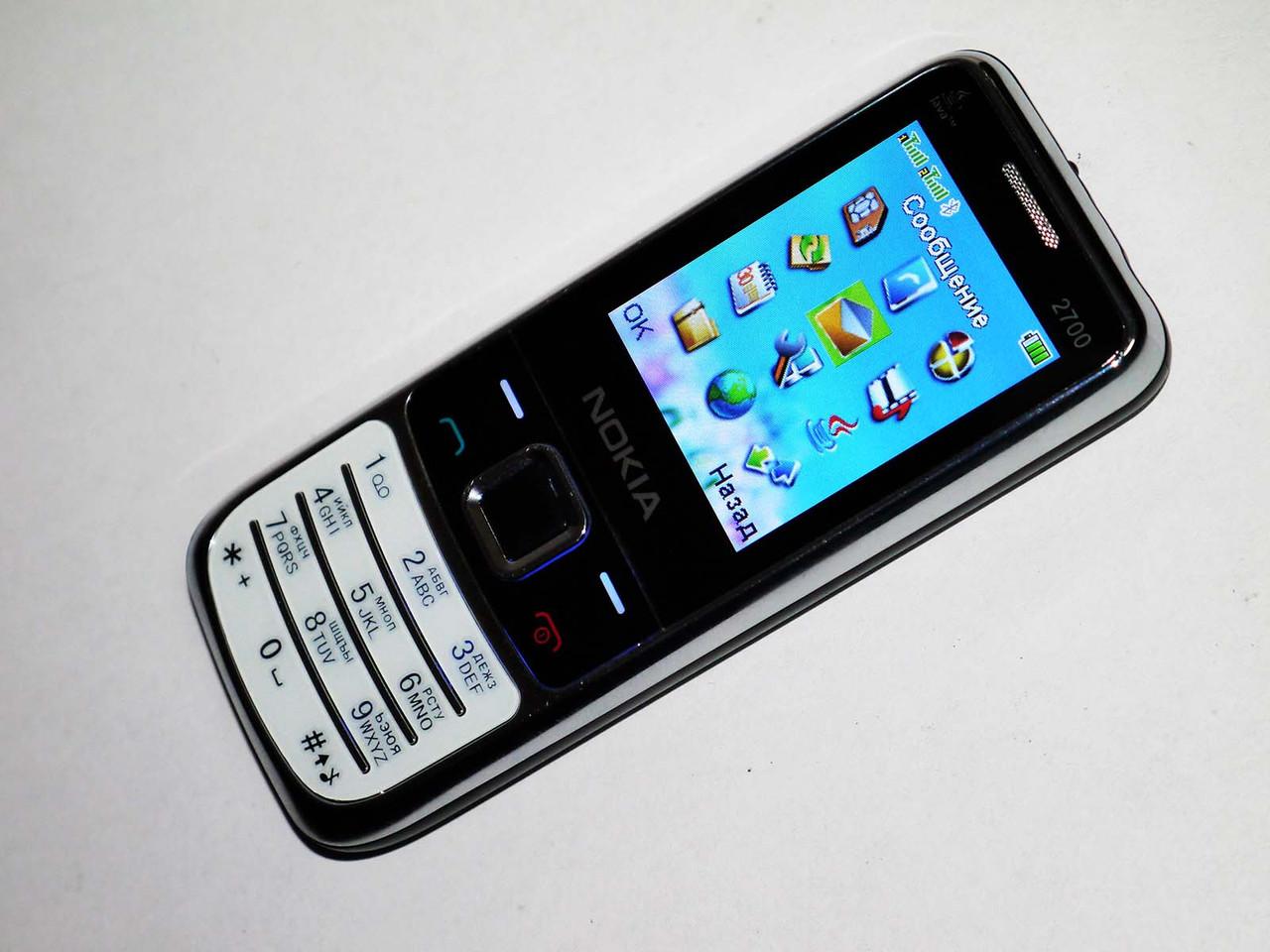 Телефон Nokia 2700 Белый - 2Sim+Camera+FM