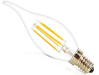 Светодиодная лампа  Filament 4Вт  C35T 3000K свеча на ветру