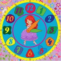 Деревянная игрушка сортер:  часы для девочек, 6238