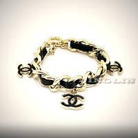 Модное Шикарное украшение браслет женский Chanel золотой подарок на 8 марта