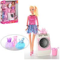 Кукла с нарядом DEFA  29см, стиральная машина, звук, свет, на батарейках, 2 вида, 8323