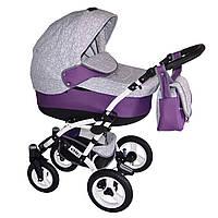 Коляска детская Donatan VIANO PLUS серо-фиолетовая, ЭВ-VianoPlus_09