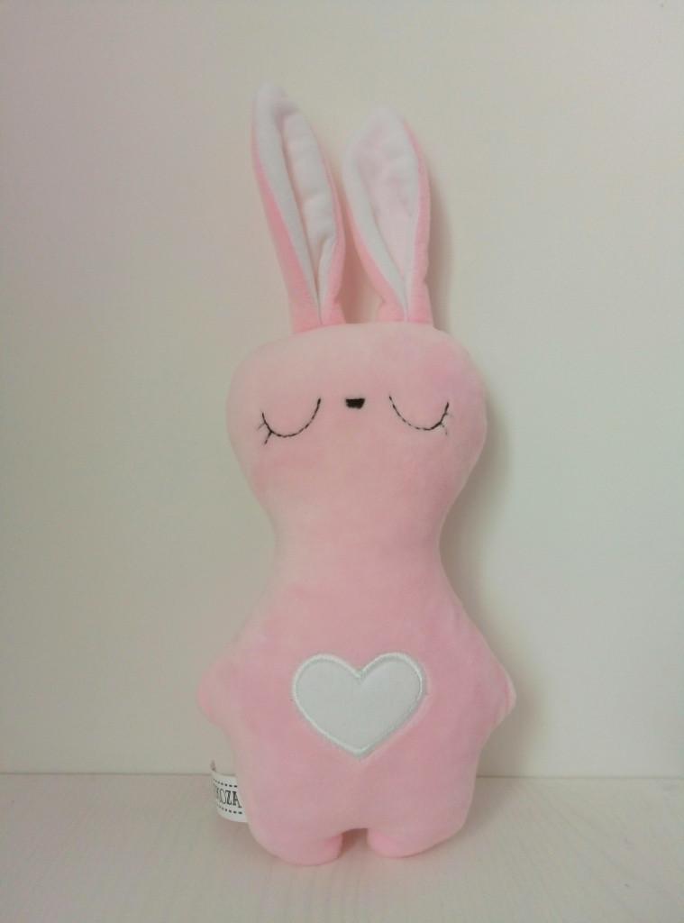 Мягкая игрушка Strekoza Заяц Засыпаяц 20см розовый
