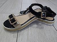 Женские босоножки черные, золото 36, 37, 38, 40 размер