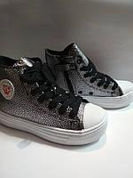 Подростковые ботинки,Сникерсы конверсы Activ Girls B&G