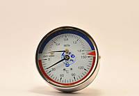 Манометр с термометром ДМТ 05080 1,6 мПа 150°C осевой с поверкой ГОСТ 2405-88 ТУ У 33.2-14307481-031