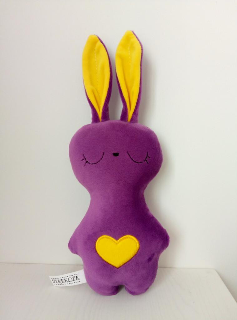 Мягкая игрушка Strekoza Заяц Засыпаяц 20см фиолетовый