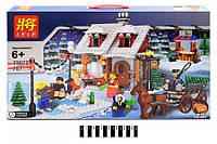 Конструктор лего  Рождество серии перевозки дом с Рождество дерево Леле Конструкторы