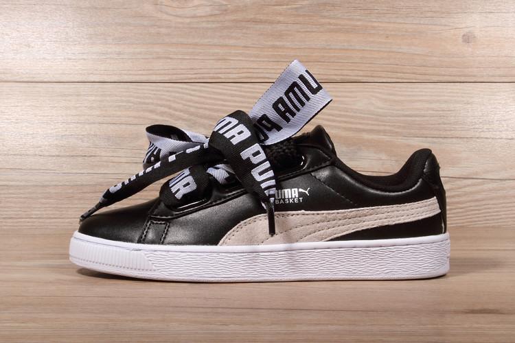 Женские кроссовки Puma Rihanna Basket Heart Black  продажа df612b5942dd0