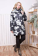 Куртка Небраска принт цветы с 52 по 62 размер (al-ros)
