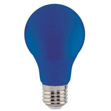Светодиодная лампа синяя SL-03В 3W E27 A60 220V (BLUE) Код.59214, фото 2