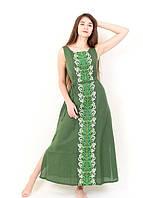 Вышитое платье Современная тенденция домотканное полотно