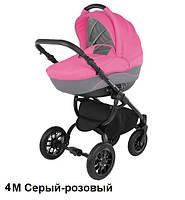 Универсальная коляска Adamex Jogger 4М Розовый с серым