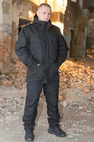 """Куртка-китель """"Тренд М-65"""",чорна 100% х/б, фото 2"""