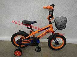 Детский двухколесный велосипед 12 дюймов JK-717 CROSSER