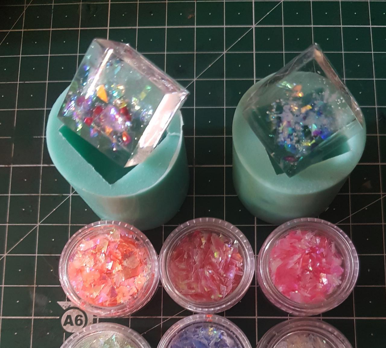 НОВИНКА:Набор 12 шт. для декора Glint Глинт, эффект рваной фольги