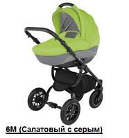 Универсальная коляска Adamex Jogger 6М Салатовый с серым