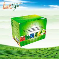 Чай для очистки кишечника на основе фруктовых и овощных компонентов Luck Life.
