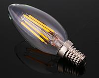 Светодиодная прозрачная лампа Filament 4Вт LM392 C35 E14 4500K, фото 1