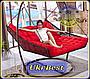 Подвесная кровать-кресло двухместная - садовые качели, фото 3