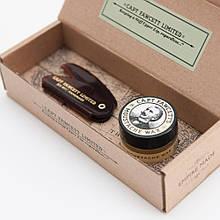 Набор для ухода за усами воск и расческа Captain Fawcett Moustache Wax & Folding Pocket Moustache Comb