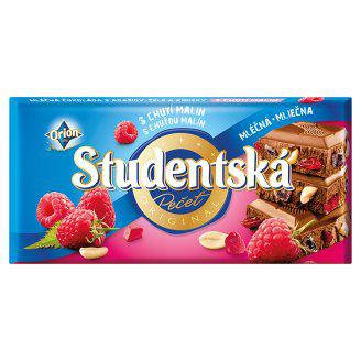 Шоколад Studentska 180гр. малина орех, фото 2